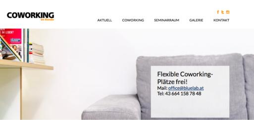 Coworking im Rondo: Website